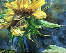 Original Oil On Canvas By Artist- Sunflowers  - 16 X 20 - $375