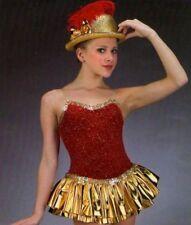 Red Hot Dance Costume Christmas Tap Ice Skating Baton Cheer Dress Child Small