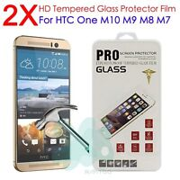 2X Premium Tempered Glass Screen Protector Protection Guard Film for HTC One