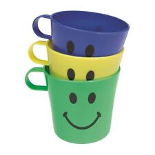 Chef Aid Plastic Cups Set 3 complete with Smiley Face