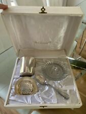 Vintage CHRISTOFLE Christening set - unused - Silver plated cup & juicing set