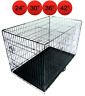 Mr Barker Puppy Training Crate Folding Metal Dog Cage 4 sizes 24-42 Inch
