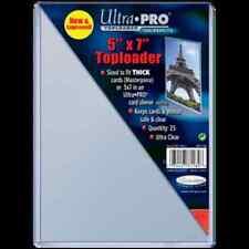 """Ultra Pro Toploader 5""""x7"""" Clear Photo Card Holder 25 Pack - Case Top Loader CDG"""