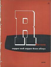 MRO Brochure - Revere - Copper Brass Bronze Nickel Product Overview 1953 (MR73)