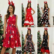 Women Ladies Dress Christmas Summer Sleeveless Casual Fashion A Line Dress