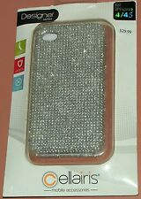 Cellairis Designer Silver Bling case for iPhone 4/4s, two part snap together