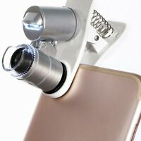 Silver Microscope LED Magnification Magnifying Glass Parts Accessories