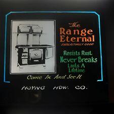 Antique Advertising Magic Lantern Glass Range Eternal Last A Lifetime Stove