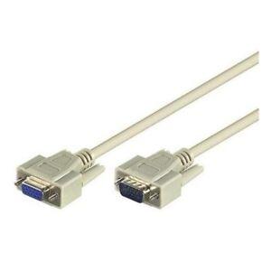 2 Meter S-VGA D-SUB 15 polig Kabel Verlängerung Verlängerungskabel für Monitor