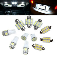 11Pcs White LED Interior Lights Package Kit Bulb 12V Universal Lamp Replacement