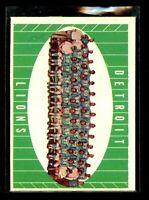 1961 TOPPS #37 DETROIT LIONS NM/MT D022885