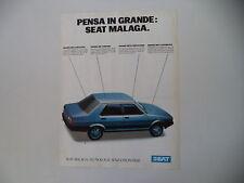 advertising Pubblicità 1986 SEAT MALAGA