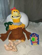"2000 Playmates 10"" Dreamworks Chicken Run Rocky Plush Beanbag Figure toy vtg"