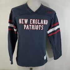 New England Patriots Reebok VINTAGE COLLECTION L/S Blue Shirt Retro Men's Small