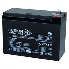 12V 10AH Fusion AGM Deep Cycle AGM Alarm, UPS, Spot Light Battery