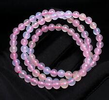 Quartz Crystal Beads Bracelet 6.2mm Natural Color Morganite