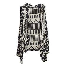 Premium Geometric Aztec Print Open Print Kimono Vest Cardigan Poncho Sweater Top