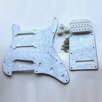 Guitar Pickguard Back Plate Tremolo Pickup Cover for Strat Parts White Pearl