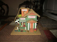 New listing Farmers Market Birdhouse Hand Made And Decorated Wood