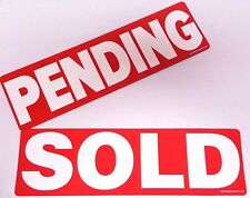 PENDING and SOLD Magnetic Real Estate Signs Riders for Yard Sign