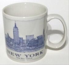 Starbucks Coffee Mug Tea Cup New York The Big Apple Off White Bluish Grey 2011