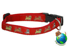 Cairn Terrier Dog Breed Adjustable Nylon Collar Medium 10-16″ Red
