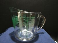 VTG ANCHOR HOCKING OVEN ORIGINALS 4 CUP GLASS MEASURING CUP GREEN