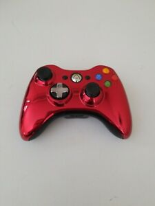 Xbox 360 Special Edition Chrome Series Red Wireless Controller; Tested