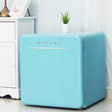 1.6 Cu Ft Mini Retro Fridge Compact Refrigerator Freezer w/ Chilling Box Blue