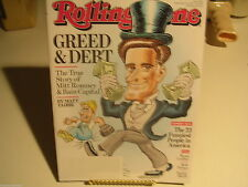 Rolling Stone September 13, 2012 Issue 1165 Greed & Debt
