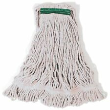 "Rubbermaid D21206 Super Stitch Medium Mop Heads - 1"" White - Case of 6"