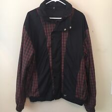 Mens Pro Quip Gore Tex Golf Jacket Waterproof Plaid Size Large