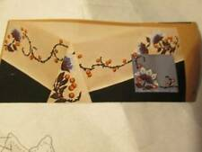 Artex Chocolate Brown Flowers & Berries Tablecloth & Practice Square-To Paint/Em