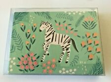 Hallmark Blank Note Cards ~ Pastel Zebra (10) New w/ Envelope Package