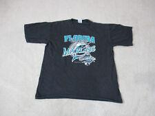 9ff471cb411450 VINTAGE Florida Marlins Shirt Adult Large Black Teal MLB Baseball 1997 Mens  90s