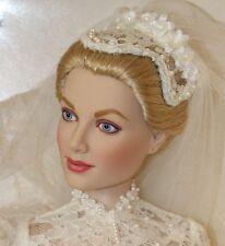 Franklin Mint Princess Grace Wedding Bride Vinyl Doll Complete NRFB Kelly w COA
