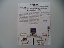 advertising Pubblicità 1990 IBM PS/2