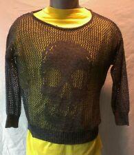 NWT Womens DECREE BRAND loose weave top SIZE MEDIUM retails $24 HALLOWEEN