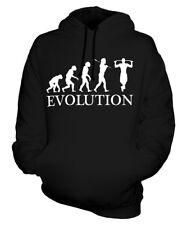 KLIMMZUG EVOLUTION DES MENSCHEN UNISEX KAPUZENPULLOVER HOODIE PULLI HERREN DAMEN