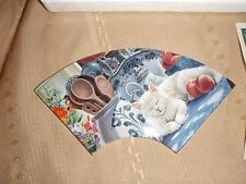 bradford exchange sweet slumber purr-fect times 2002 cat tile #a3722 with coa