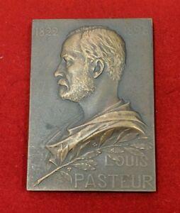 Louis PASTEUR Plaquette par Prud'homme 1910 Paris