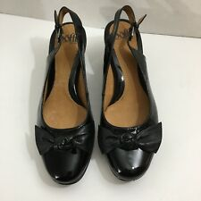 Sofft Black Slingback Heel Size 7M Cute Bow Comfort Shoe