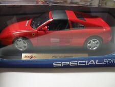 1:18 SCALE MAISTO FERRARI 348TS DIECAST CAR RED