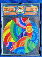 Vintage 1969 Mattel Brain Drain Puzzle Profound Round Psychedelic Peter Max