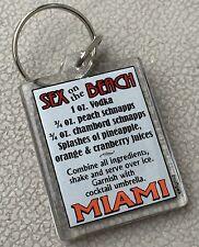 Miami Sex On The Beach Drink Recipe Mix Acrylic Plastic Keychain - New