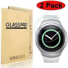 2-Pack Tempered Glass Screen Protector for Samsung Gear S2 / Classic Smart Watch