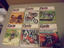 LOT OF 6 1967 CYCLE MAGAZINE, HONDA,H-D,KAWASAKI,YAMAHA,TRIUMPH,BMW,MOTO GUZZI