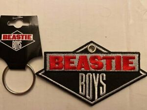 Beastie Boys 'Classic Logo' Embroidered Patch Key Ring *Official Merch*