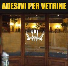 vetrofanie adesivo ristorante simbolo food vetrine street trattoria bar