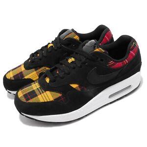 Nike Wmns Air Max 1 SE Tartan Pack Black Red Yellow Women Shoes AV8219-001